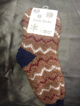 Super Fuzzy Zig Zag House Socks