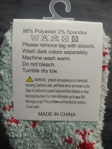Super Plush Snowflake House Socks