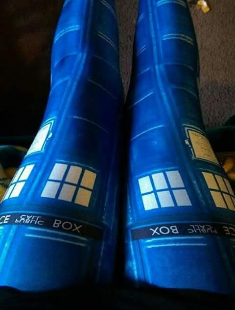 Screen Printed Dr Who Tardis Leggings