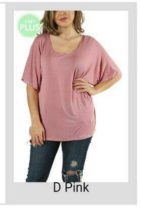 Plus Doleman Sleeve Tunic Top - tops
