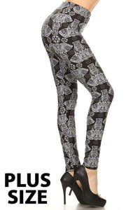 Plus Size Elephant Print w/Diamond Mandala