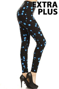 Extra Plus Constellation Leggings on Black Background