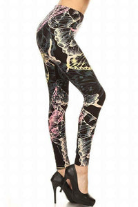 One Size Enlarged Butterfly Print Leggings