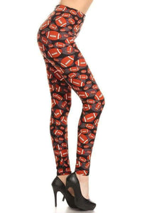 One Size Classic Football Print Leggings