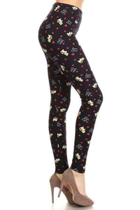 "One Size ""Love Cats"" Print Leggings"