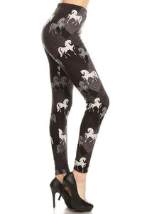 One Size Horse Print Leggings