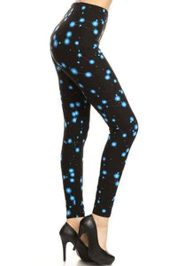 One Size Constellation Print Leggings