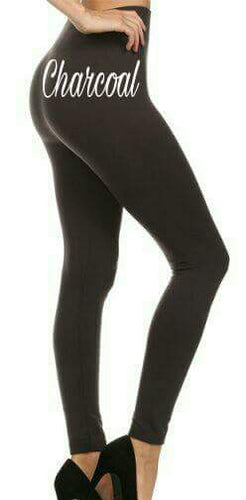 One Size Solid Color Leggings