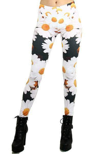 One Size Daisy Leggings