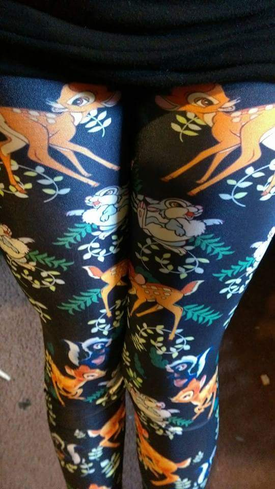 Screen Printed Bambi & Thumper Leggings