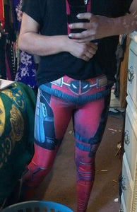 Screen Printed Assassin print leggings