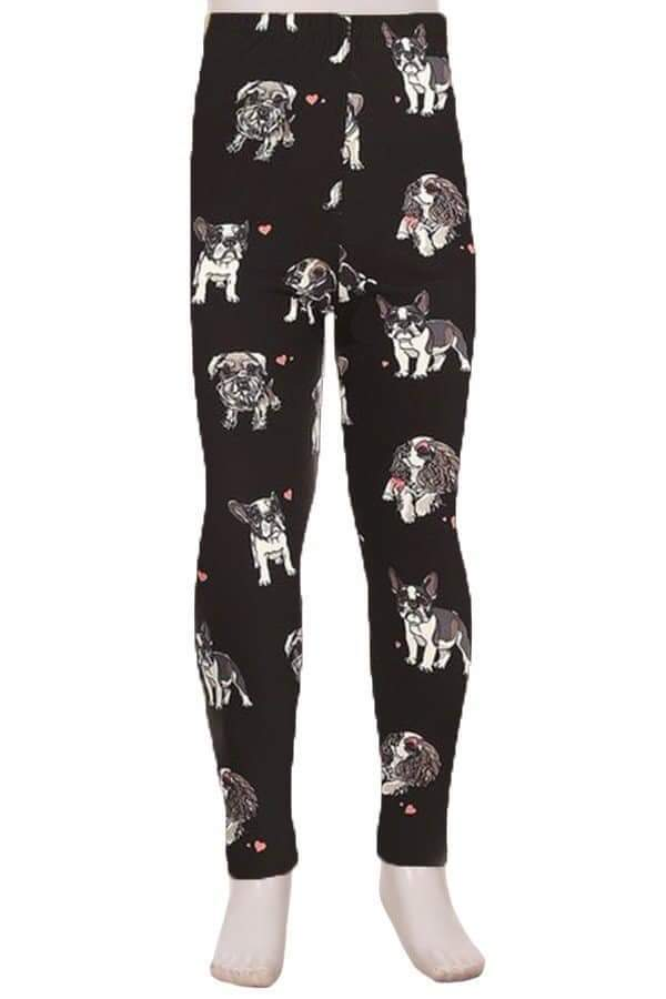 Kids Puppy Print Leggings