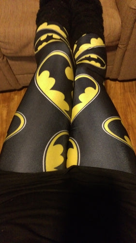 Screen Printed Bat Leggings