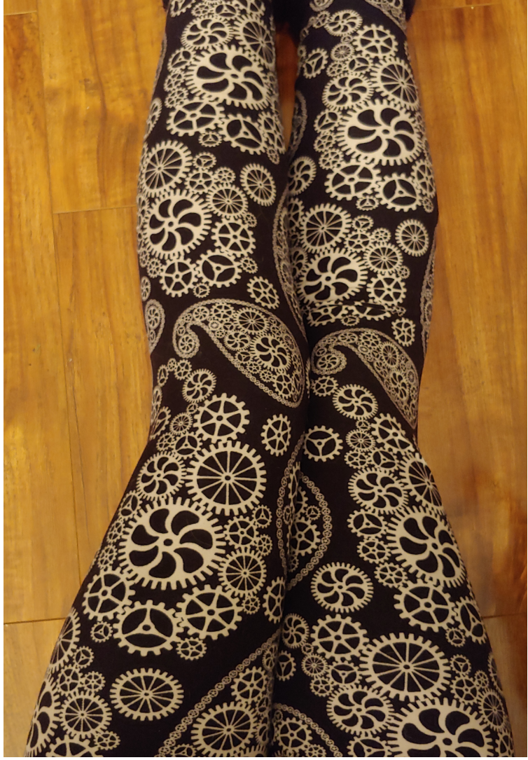 One Size Steampunk Paisley Leggings