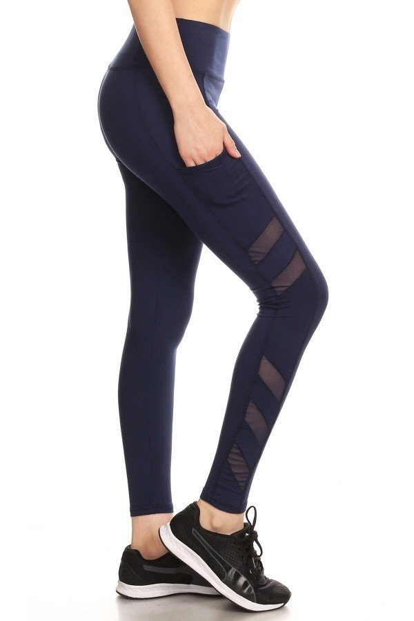 Navy One Size Sculpting Leggings W/Side Pockets