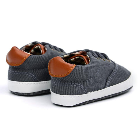 Toddler Baby Canvas Shoes Laces Casual Sneaker Soft Sole First Walker Anti-skid  Sneaker Shoes c43b00d5c3df