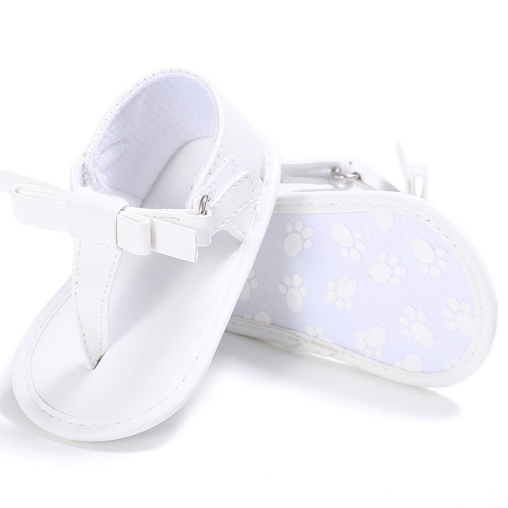 52a54297f817 ... Toddler Girl Crib Shoes Newborn Flower Soft Sole Anti-slip Baby  Sneakers Sandals ...