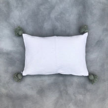 Load image into Gallery viewer, Pillow 60x40 | White/Green | Incl. filling