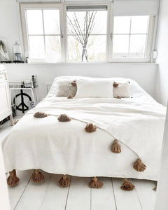Blanket White/Camel | 300/200 | Double bed