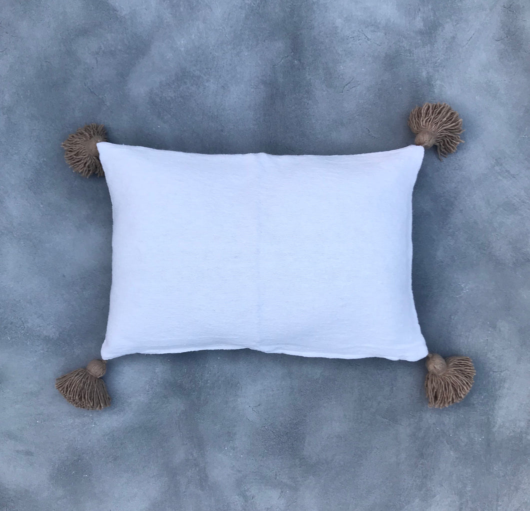 Pillow 60x40 | White/Gold | Incl. filling