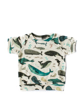 Load image into Gallery viewer, BOYS CUFFED TEE, AUTUMN PRINTS