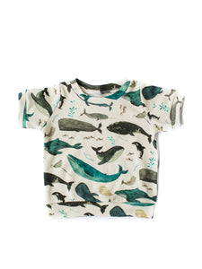 BOYS CUFFED TEE, AUTUMN PRINTS