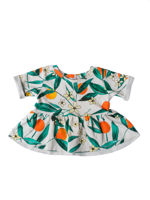 GIRLS PEPLUM TOP, SUMMER PRINTS