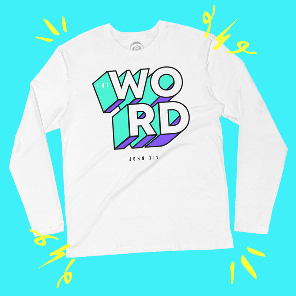 WORD Long Sleeve Tee (White)