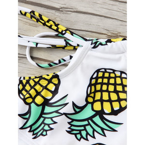 Pineapple Print Bikini Set