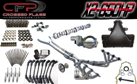 CFP X2-650HP Package for C6 Z06 Corvettes - Crossed Flags Performance, LLC - 510 Race Engineering