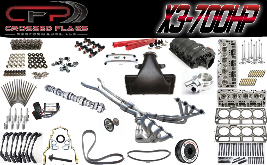 CFP X3-700HP Package for C6 Z06 Corvettes - Crossed Flags Performance, LLC - 510 Race Engineering