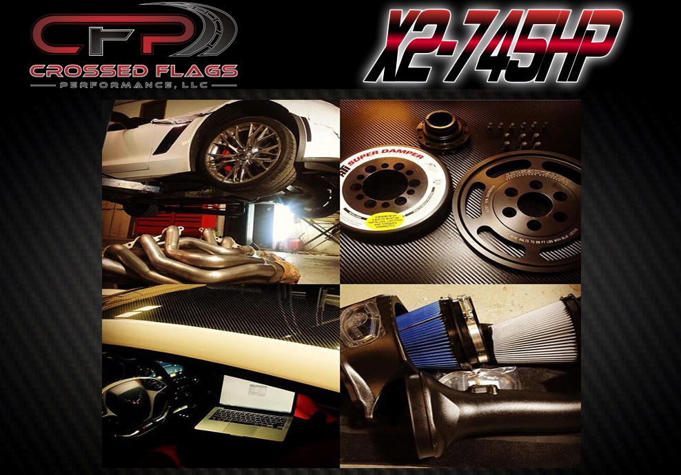 CFP X2-740HP Package for 15-19 C7 Z06 Corvettes - Crossed Flags Performance, LLC - 510 Race Engineering