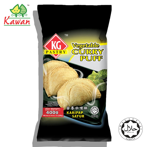 KG PASTRY Vegetable Curry Puff (16 pcs - 400g)