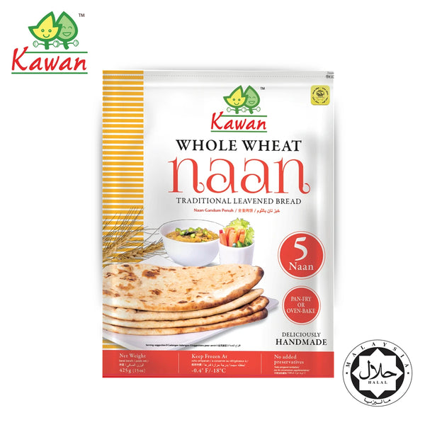 KAWAN Whole Wheat Naan (5 pcs - 425g)