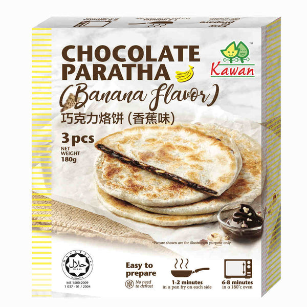 Banana Chocolate Paratha (3 pcs - 180g)