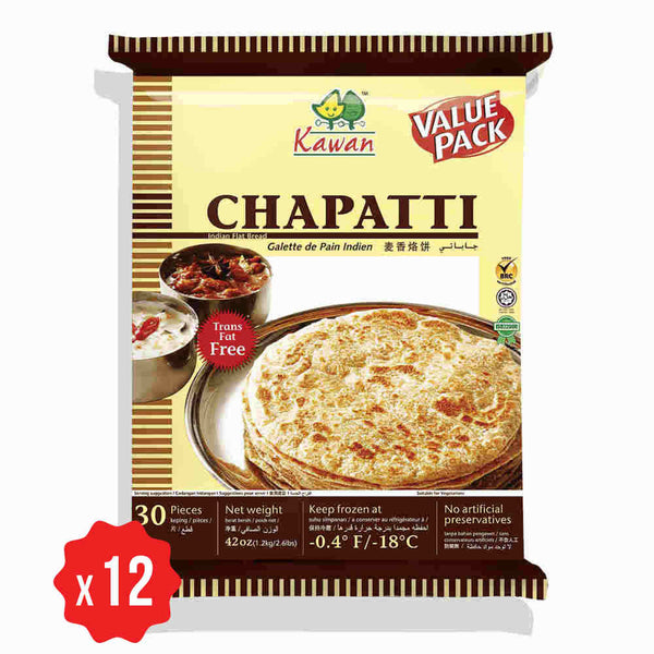 [Carton] Roti Chapatti Value Pack (30 pcs x 12 pkts)