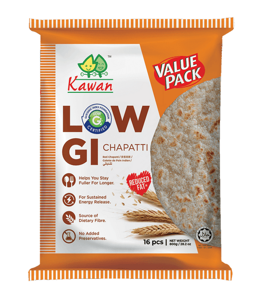 [Carton] Low GI Chapatti Value Pack (12 pk x 16 pcs x 50g)