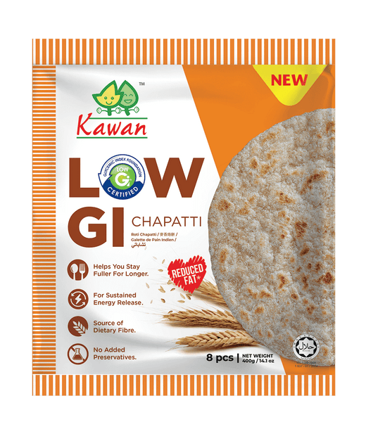 [Carton] Low GI Chapatti (24pk x 8 pcs x 50g)