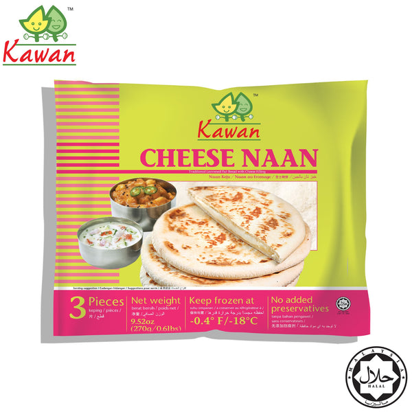 KAWAN Cheese Naan (3 pcs - 270g)