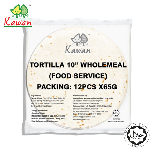 "KAWAN [FS] Tortilla Wraps Wholemeal 10"" (12 pcs x 65g)"