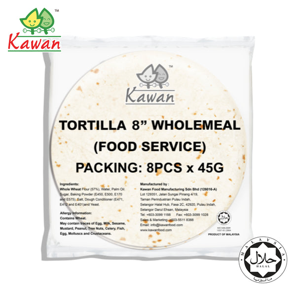 "KAWAN [FS] Tortilla Wraps 8"" Wholemeal (8 pcs x 45g) (Expiry: 28 June 2021)"