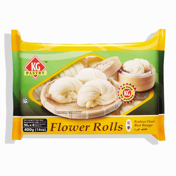 KG PASTRY Flower Roll Original (8 pcs - 400g)
