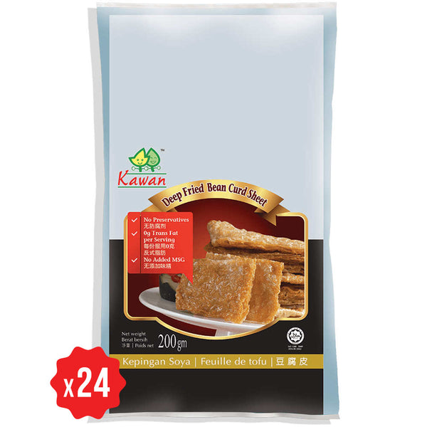 [Carton] Fried Beancurd Sheet (200g x 24 packets)