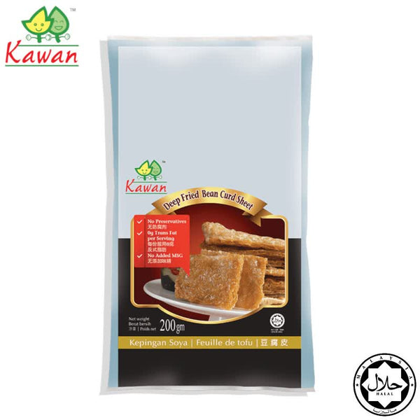 KAWAN Fried Beancurd Sheet - 200g (Expiry: 21 August 2020)