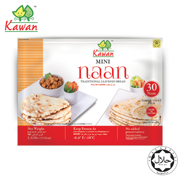 KAWAN Mini Naan Value Pack (30pcs - 1050g)