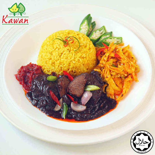 Nasi Lemak Royale with Chicken (300g)