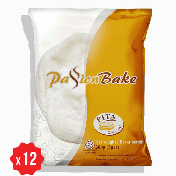 [Carton] Pita Bread Original (5 pcs x 12 packets)