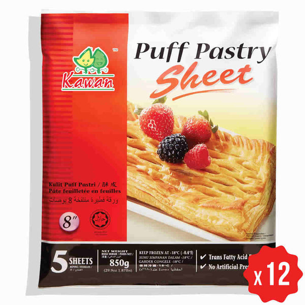 [Carton] Puff Pastry Sheet 8 (850g x 12 packets)