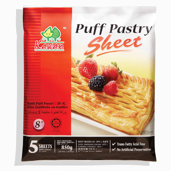 Puff Pastry Sheet 8 (5 pcs - 850g)