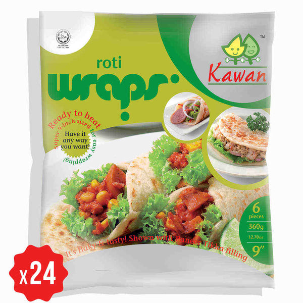 [Carton] Roti Wraps 9 (6 pcs x 24 packets)